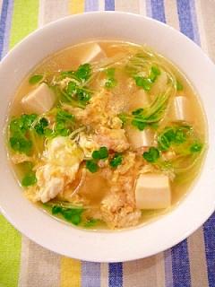 蟹の缶詰で☆ごちそう中華スープ