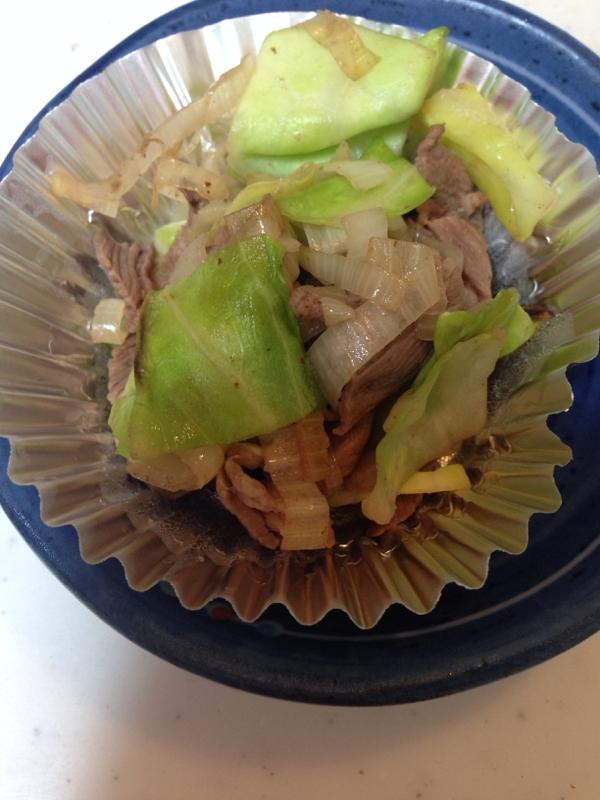 ホルモンの長葱とキャベツ炒め(*^^*)☆