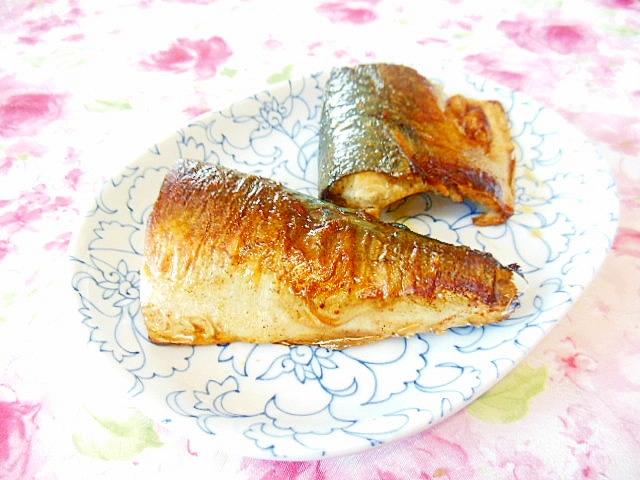 ちょっと洋風鯖のめんつゆバター焼き