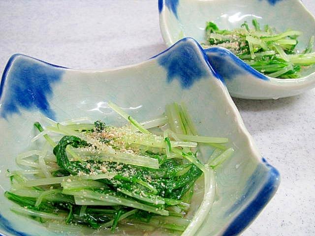 水菜の梅酢浸し