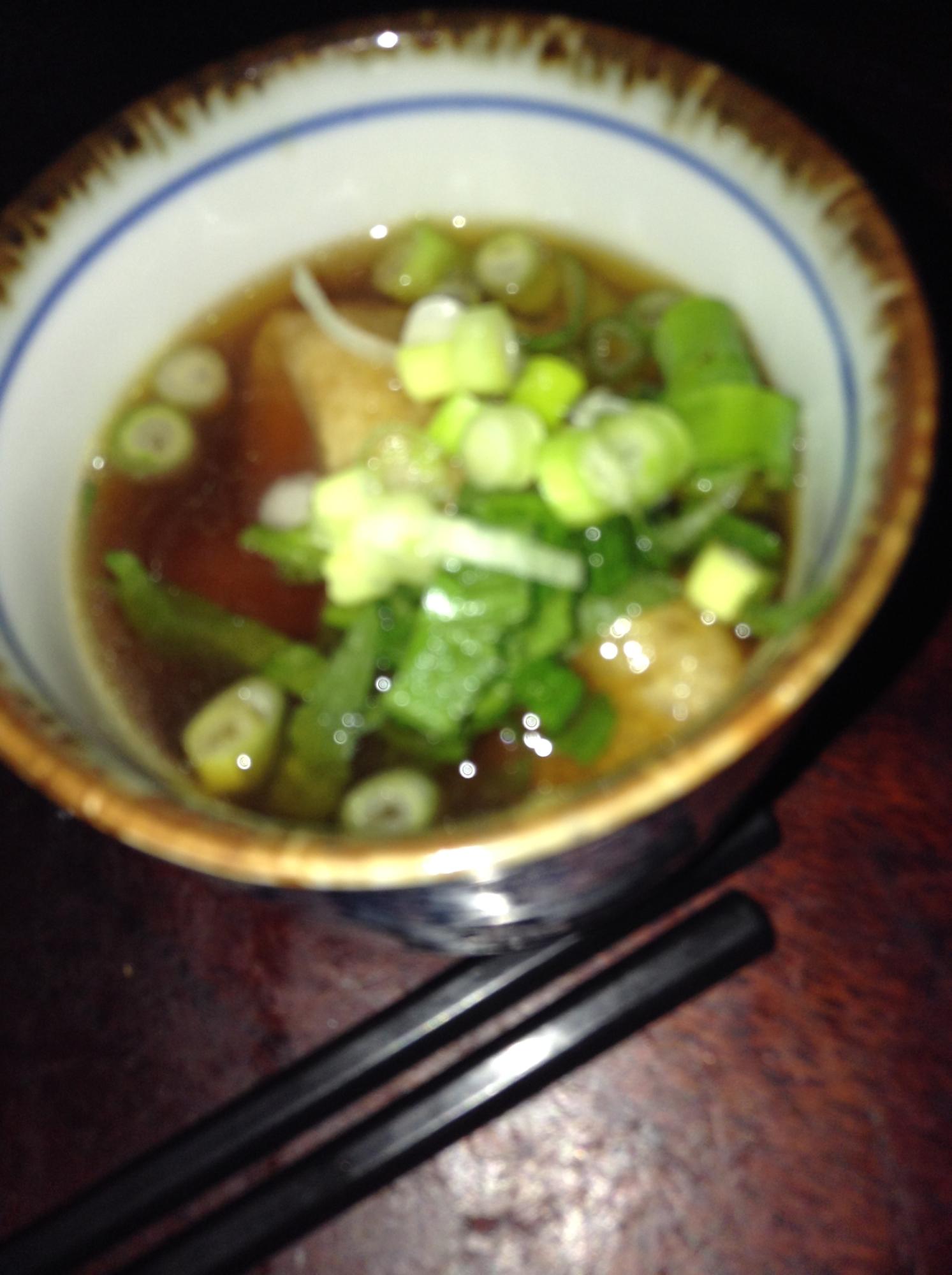 キツネの麺つゆお吸い物