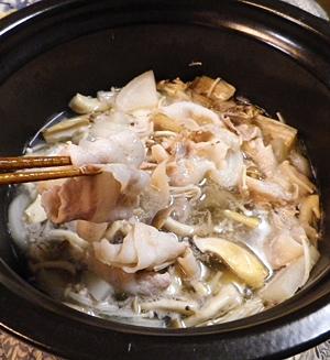 豚バラ大根きのこの塩鍋 レシピ・作り方