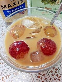 アイス☆パパイヤ酵素&巨峰&青汁きなこカフェオレ♪