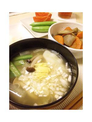 無添加餃子と有機ニンニク生姜スープ