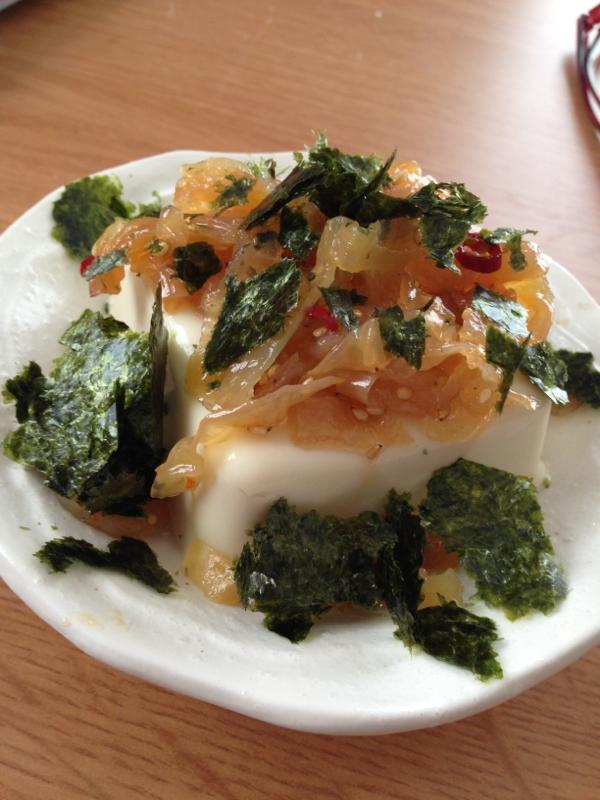 中華クラゲのピリ辛冷ややっこ♪