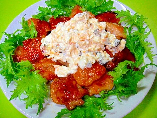 鶏むね肉の照り焼き☆キューちゃんタルタルソース