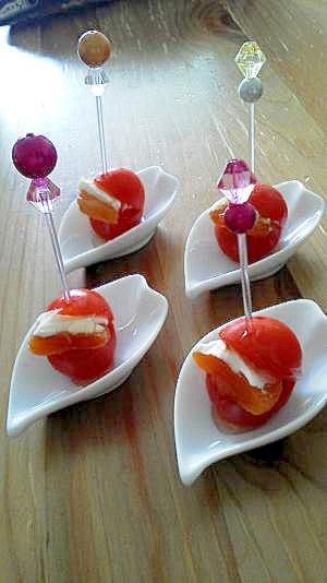 パーティーにピッタリ美味☆ミニトマトのお洒落前菜♪