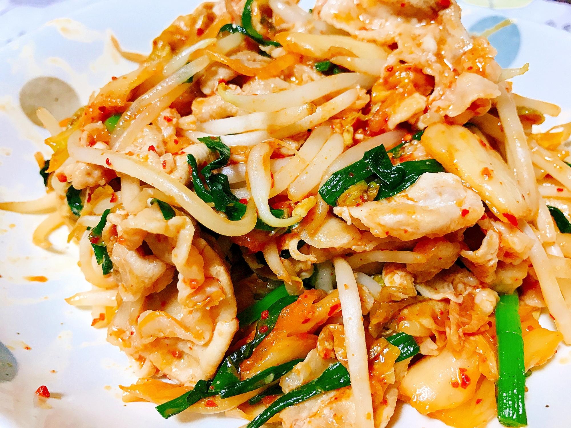 簡単!豚キムチ炒め レシピ・作り方
