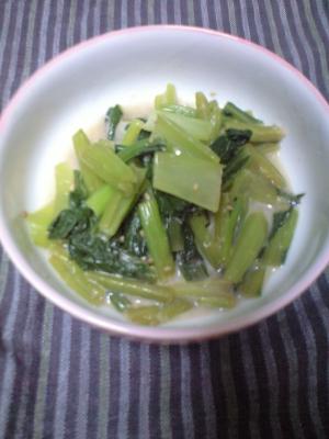 小松菜の豆乳煮