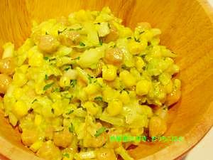 ヒヨコ豆とアボカドのサルサ
