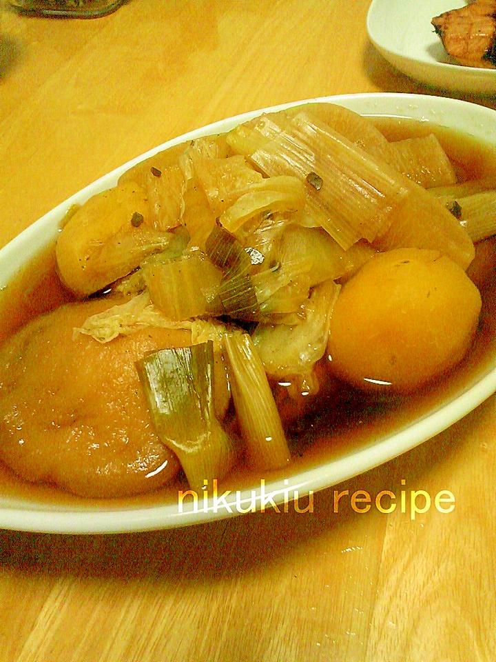簡単おいしい!安平麩・白菜・ねぎ・じゃがいもの煮物