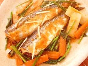 野菜たっぷり♪いわしと野菜の味噌煮♪