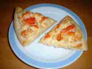 カニマヨのピザ