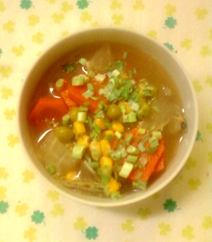 ☆・★野菜と小魚の塩麹スープ☆。.:*:・'゜★