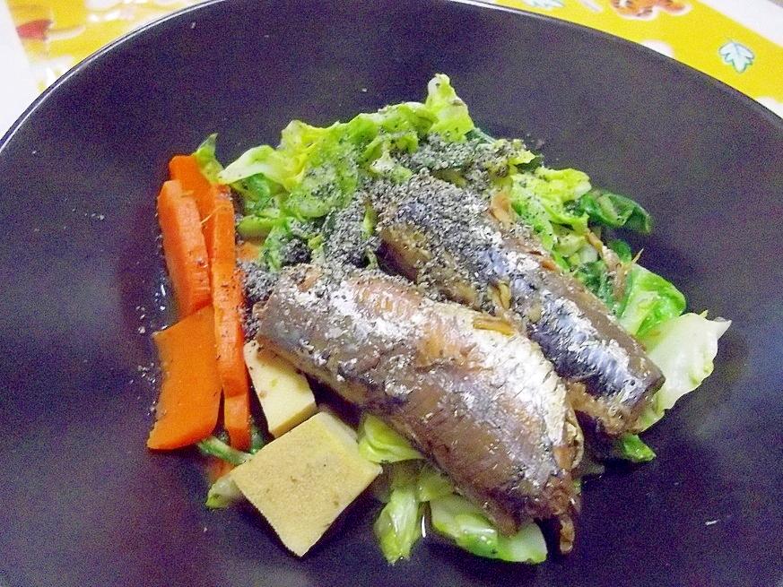 電子レンジ圧力鍋deいわしと春野菜の煮物