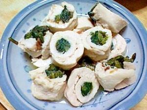 塩麹&スチーム鍋で☆ささみとほうれん草ロール