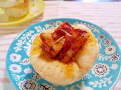 トマトと豚肉のマフィンカップパン