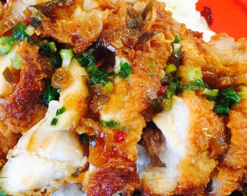 鶏ムネ肉唐揚げの油淋鶏風丼 レシピ・作り方 by たかまさ20010911|楽天レシピ