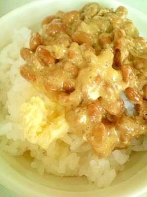 バターでコクうま☆アレンジ納豆ご飯