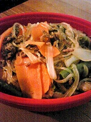 ご飯がすすむ!!春雨と野菜の甘辛炒め