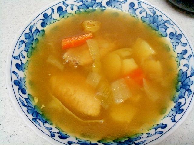 2. 残り野菜で作れるカレースープ