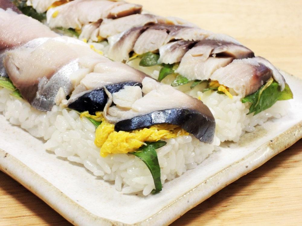 菊の花の鯖寿司