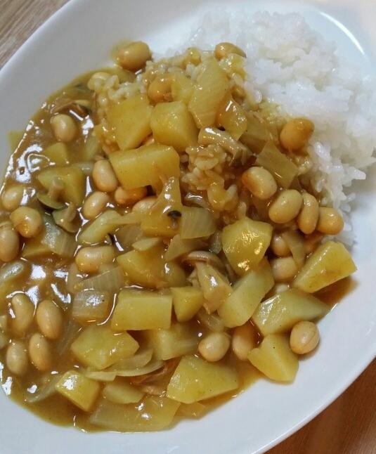 家にあるもので!大豆とツナの簡単カレー