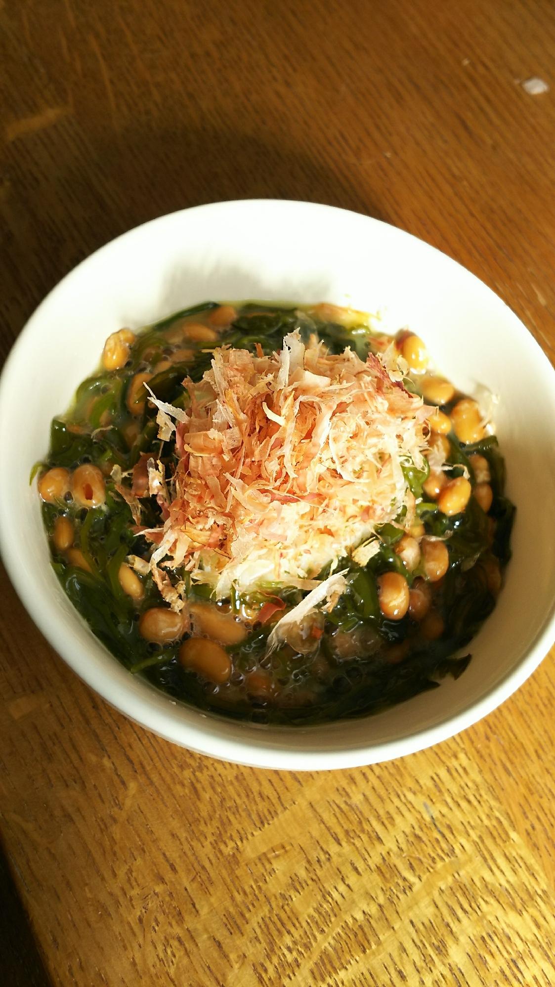 めかぶ納豆のシークワーサご飯