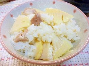 旬が山盛りだ~☆竹の子と鶏の炊き込みご飯