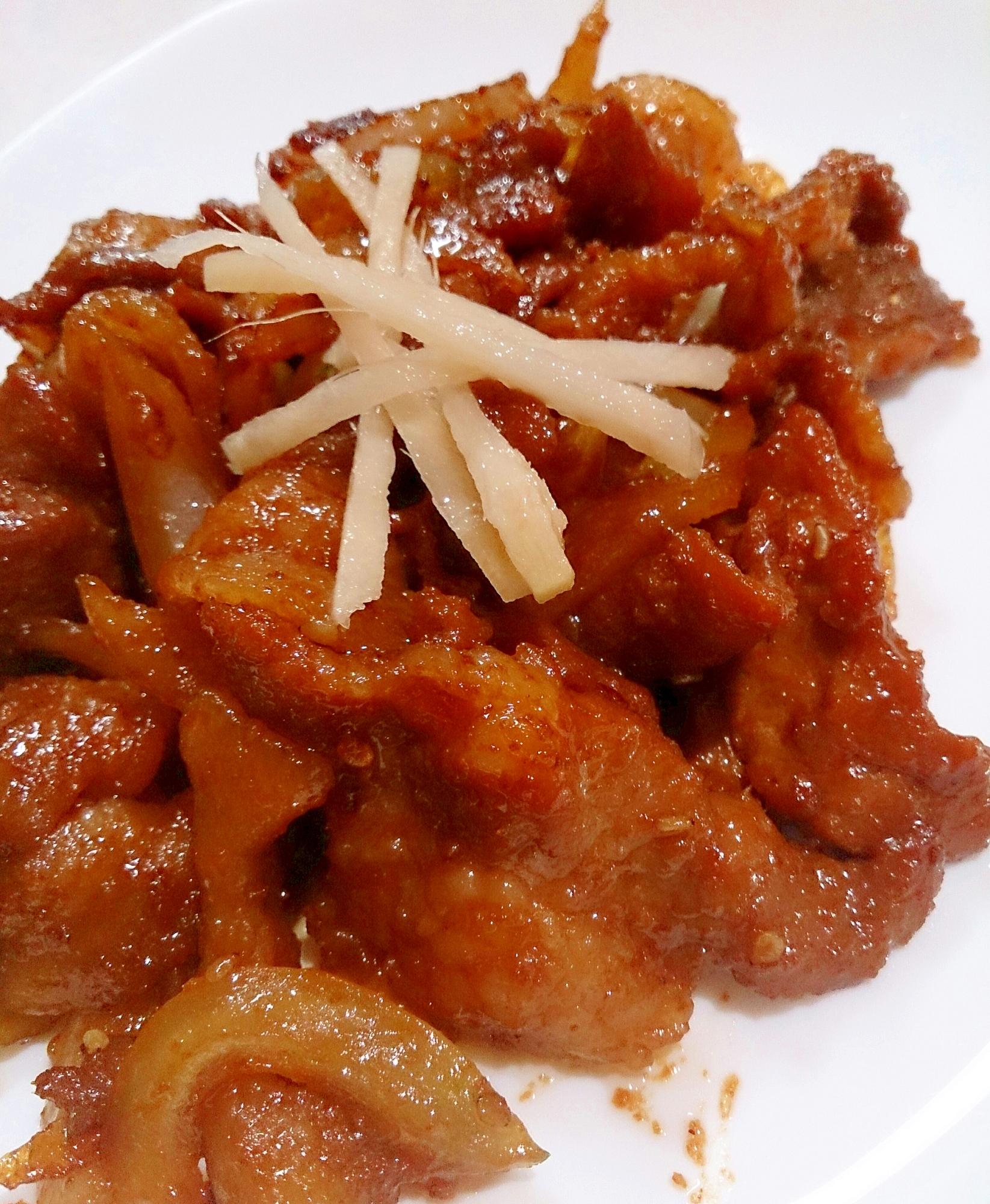 爽やかな後味が美味しい豚肉の甘酢しょうが焼き