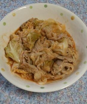 豚肉とキャベツの和風ケチャップ炒め