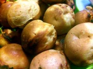 たこ焼き器できなこと甘納豆のまんまるドーナツ