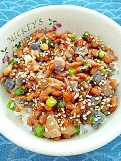 納豆の食べ方-やたらザーサイ♪