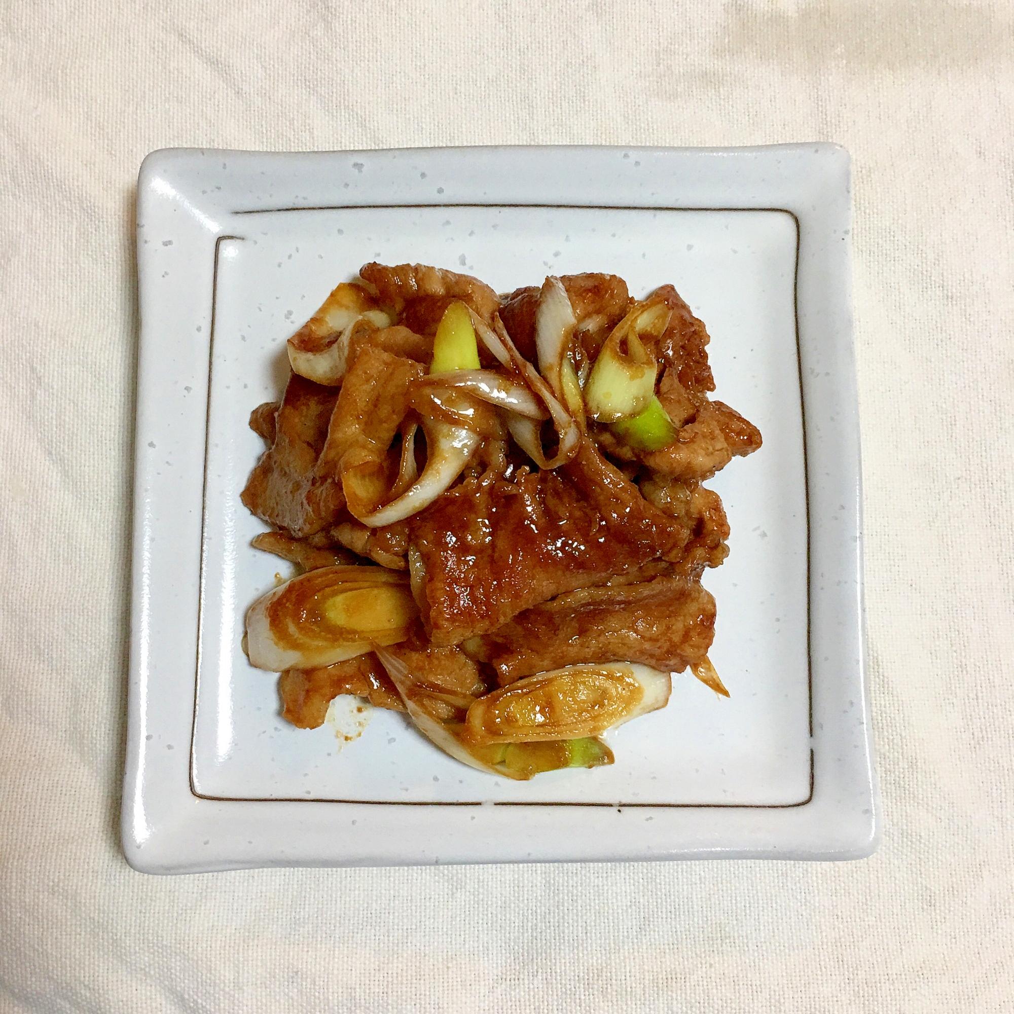 少量♪長ネギと豚こまのつけてみそかけて味噌炒め♡ レシピ・作り方 by *kuuuma* 楽天レシピ