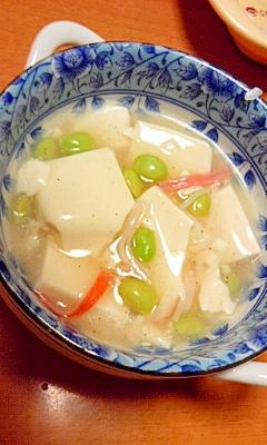 簡単副菜♪枝豆と豆腐のとろとろ煮