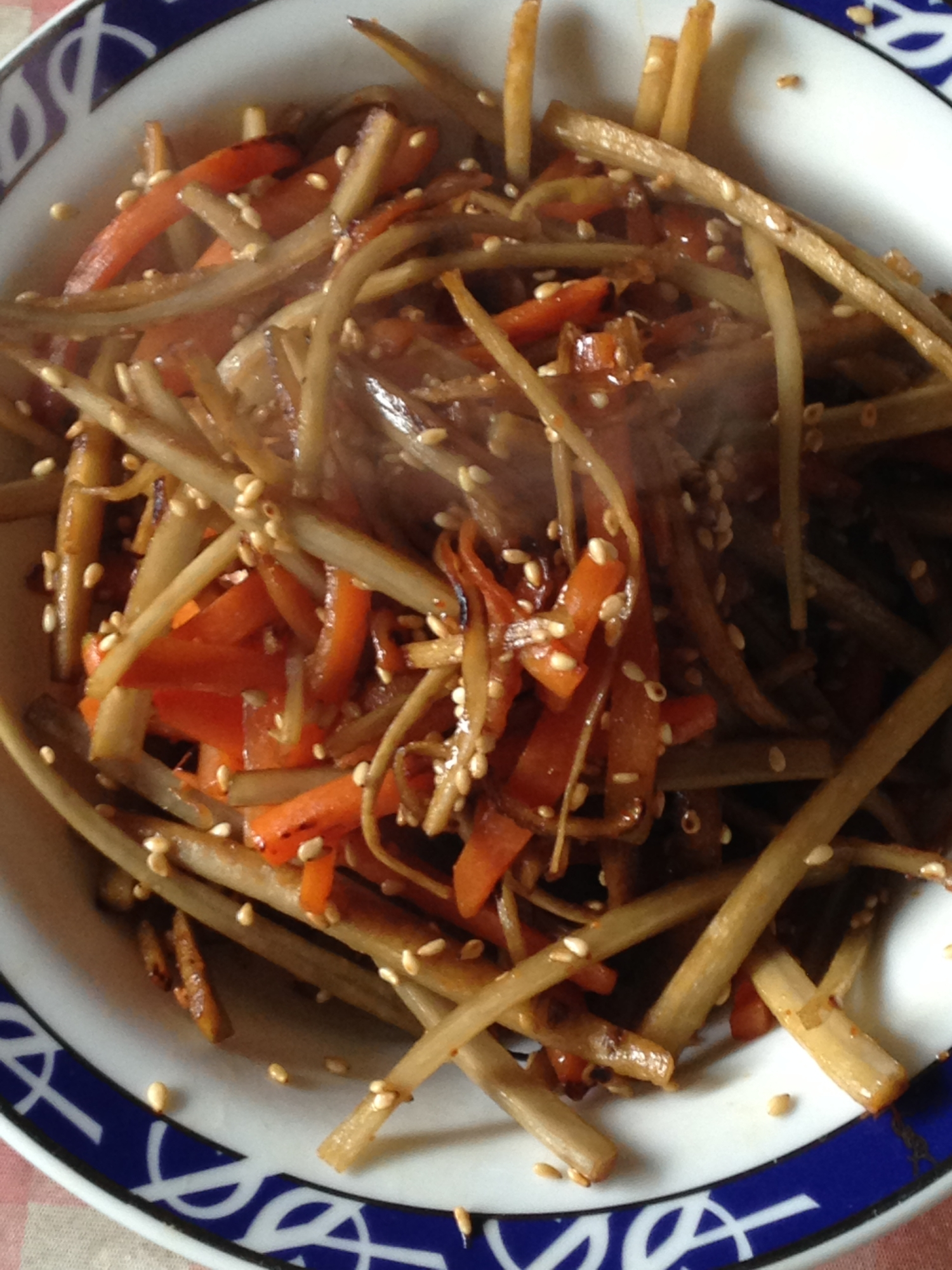 ごぼう、人参、生姜、いりごまのきんぴら レシピ・作り方