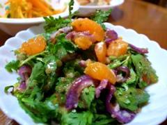 春菊のオニオンオレンジサラダ