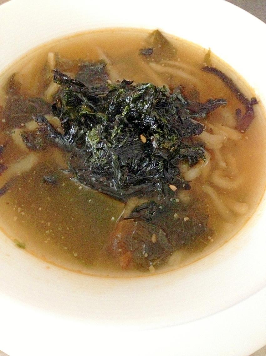 切り干し大根とひじきの中華スープ