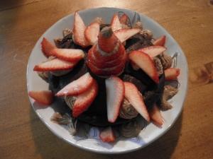 即席いちごのデコレーションケーキ
