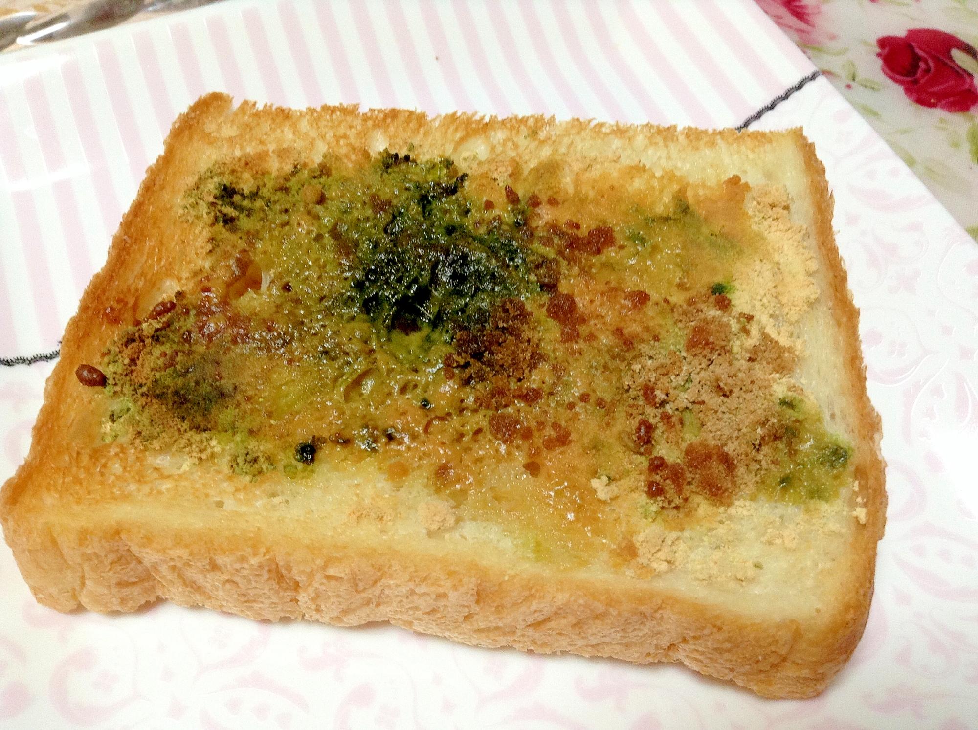 ココナッツオイル☆きな粉☆青汁☆トースト