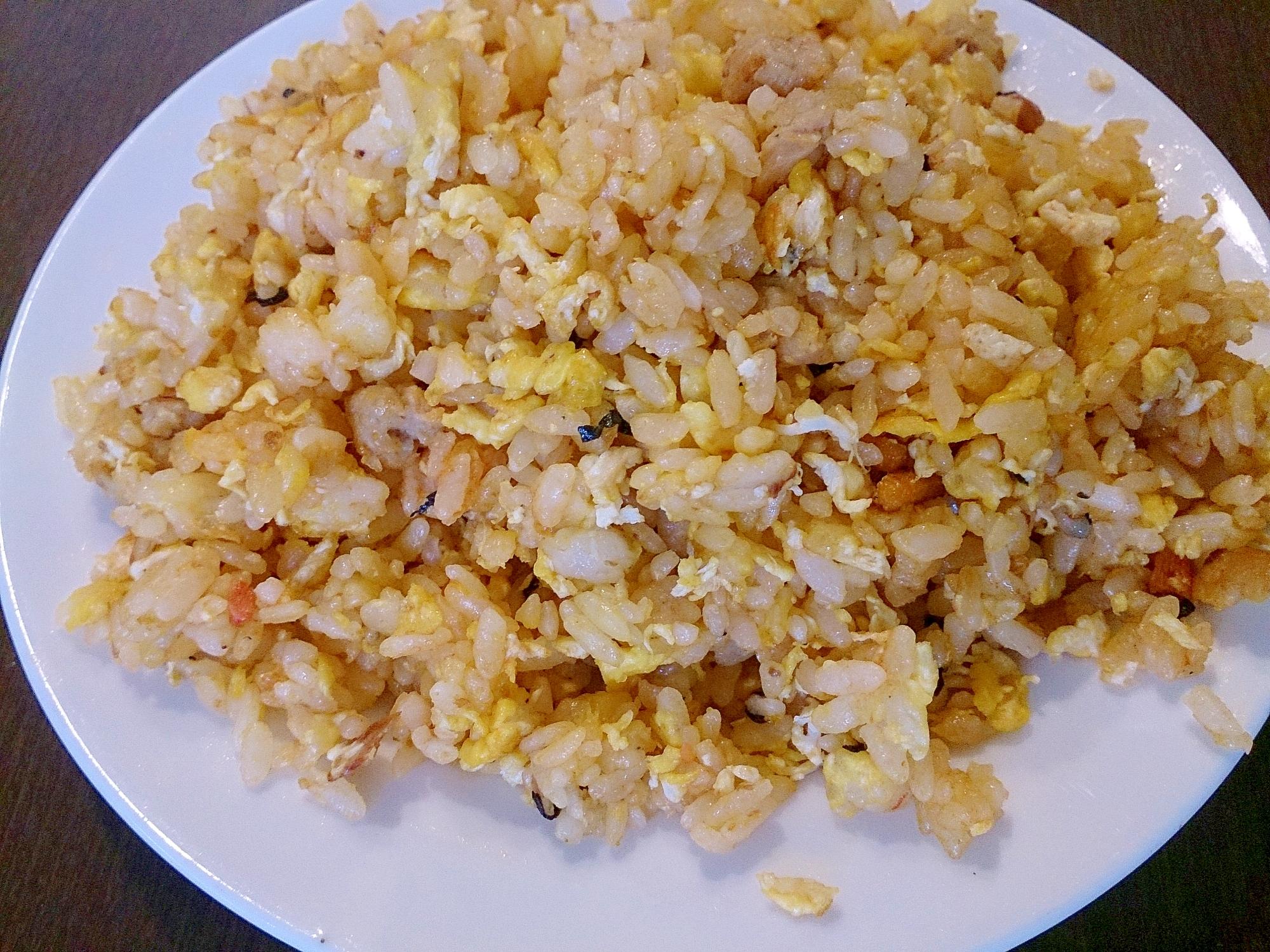 マヨで簡単パラパラ炒飯