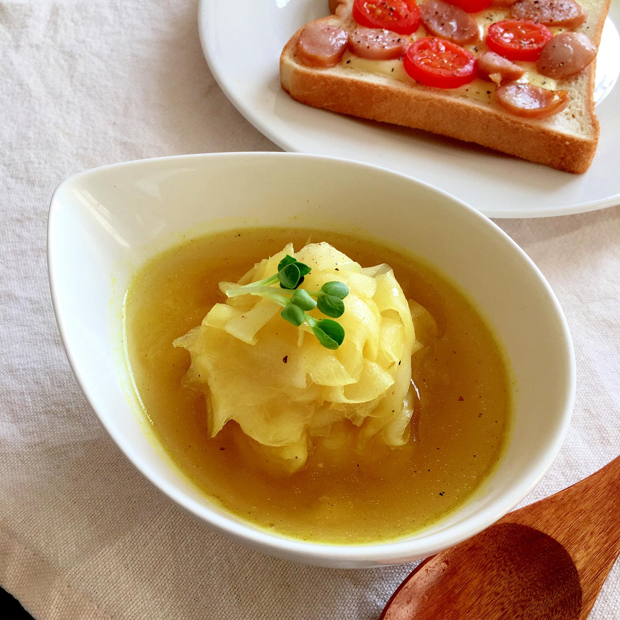 4. 大根のコンソメカレースープ