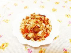 ごぼうと丸天の炒飯