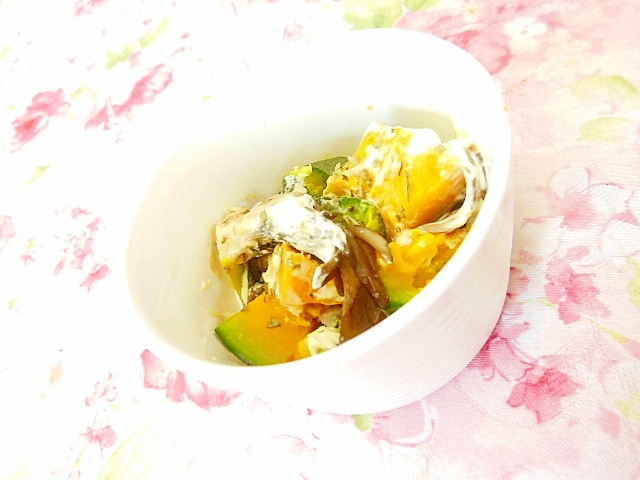 舞茸と南瓜のワサマヨ・バジル・サラダ