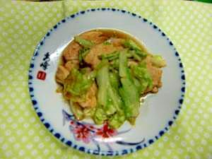 春キャベツと鶏肉の生姜炒め