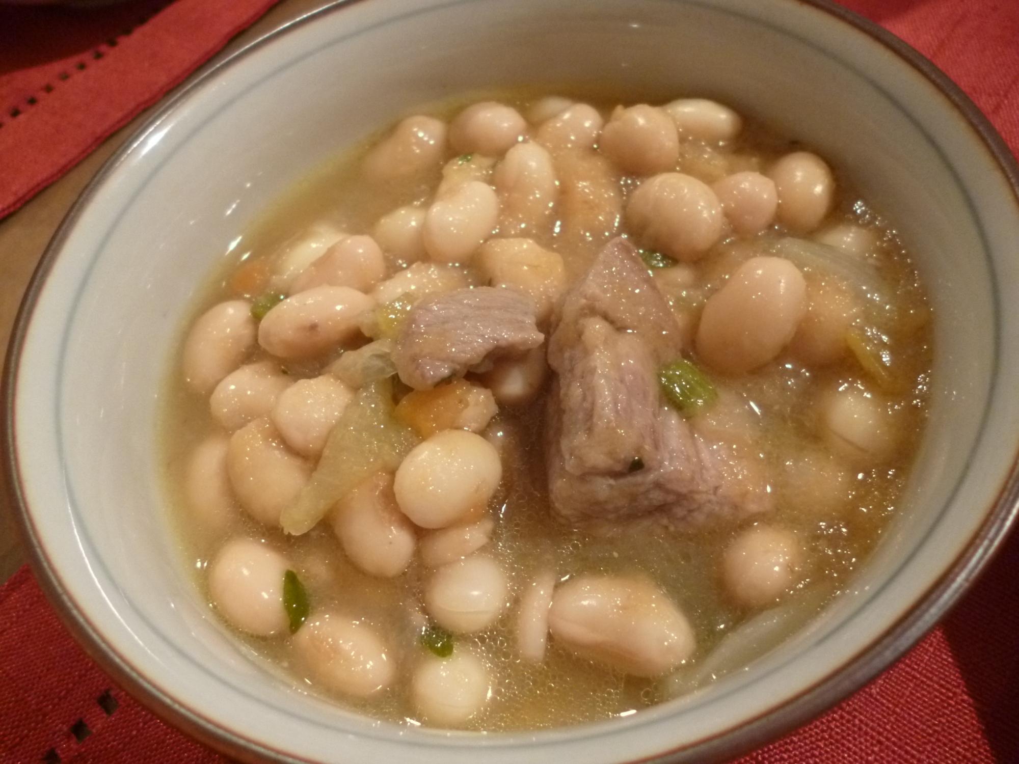 豚肉と大豆の塩煮