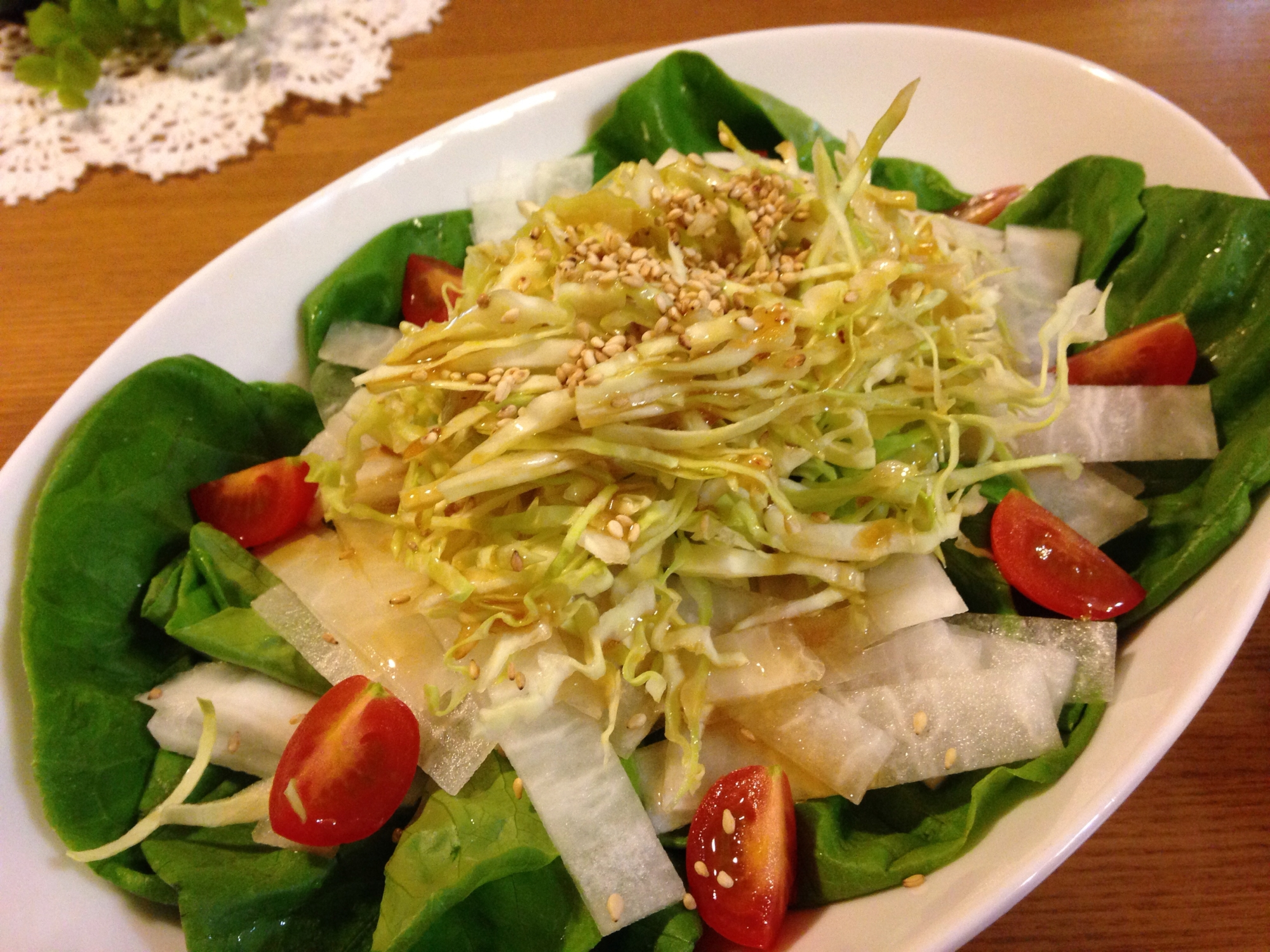 サラダ菜のシャキシャキサラダ