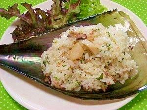 混飯その5☆平貝とツマの粗挽き胡椒ご飯