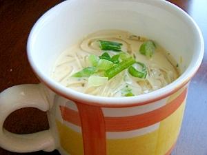 夏にお勧め♪ところてん入り☆冷やしコーンスープ