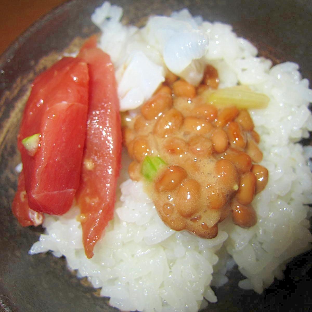 生蛸納豆鮪御飯